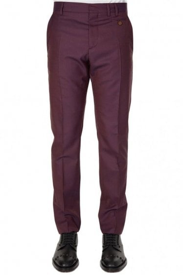 Vivienne Westwood Tapered Trousers Burgundy