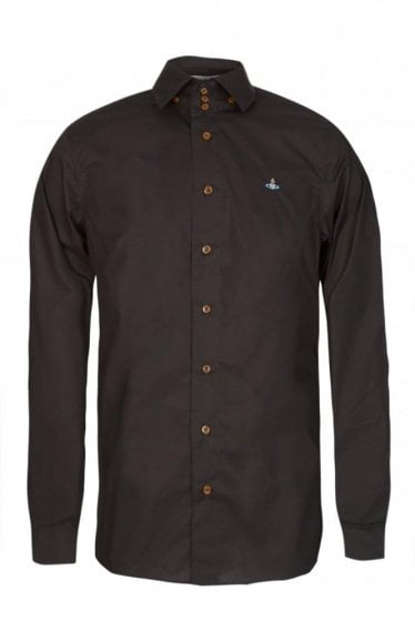 Vivienne Westwood Three Button Krall Poplin Stretch Shirt Black