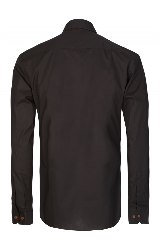 8d99505cd2790 Vivienne Westwood Three Button Krall Poplin Stretch Shirt Black