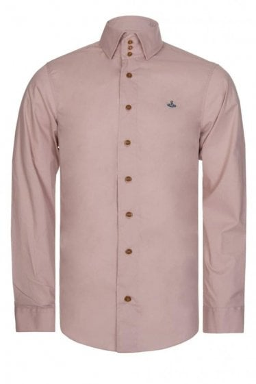 Vivienne Westwood Three Button Krall Poplin Stretch Shirt Pink