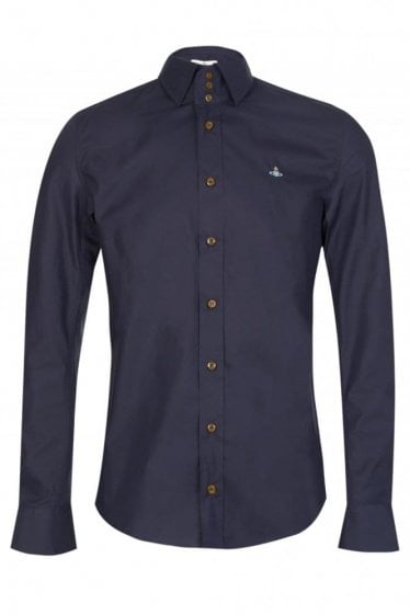 Vivienne Westwood Three Button Krall  Shirt Navy