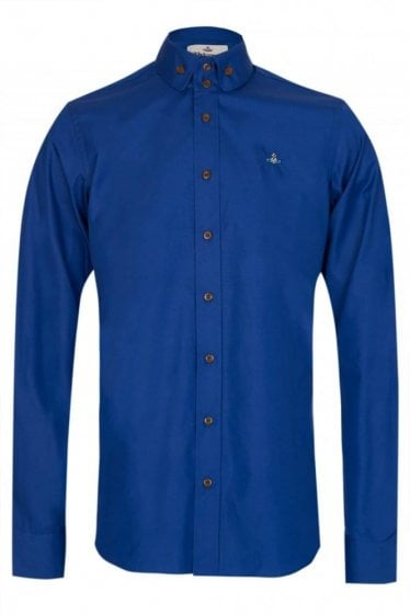 Vivienne Westwood Two Button Shirt Blue