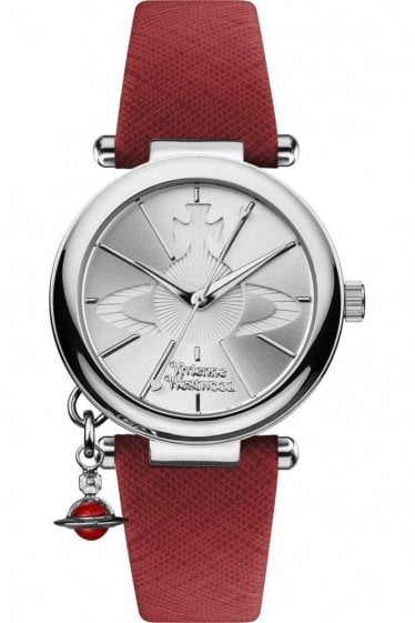 Vivienne Westwood Womens Orb Watch Red