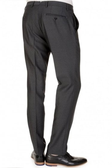 Hugo Boss Weeze Wool Mix Trousers Charcoal