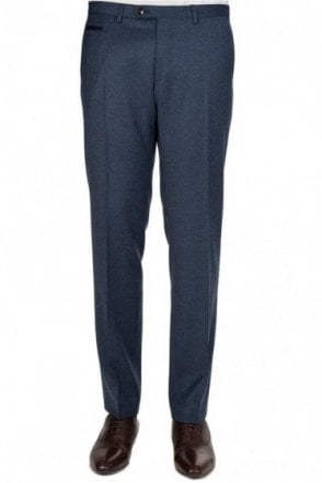 Hugo Boss 'Wilhelm 1' Wool Trousers Navy