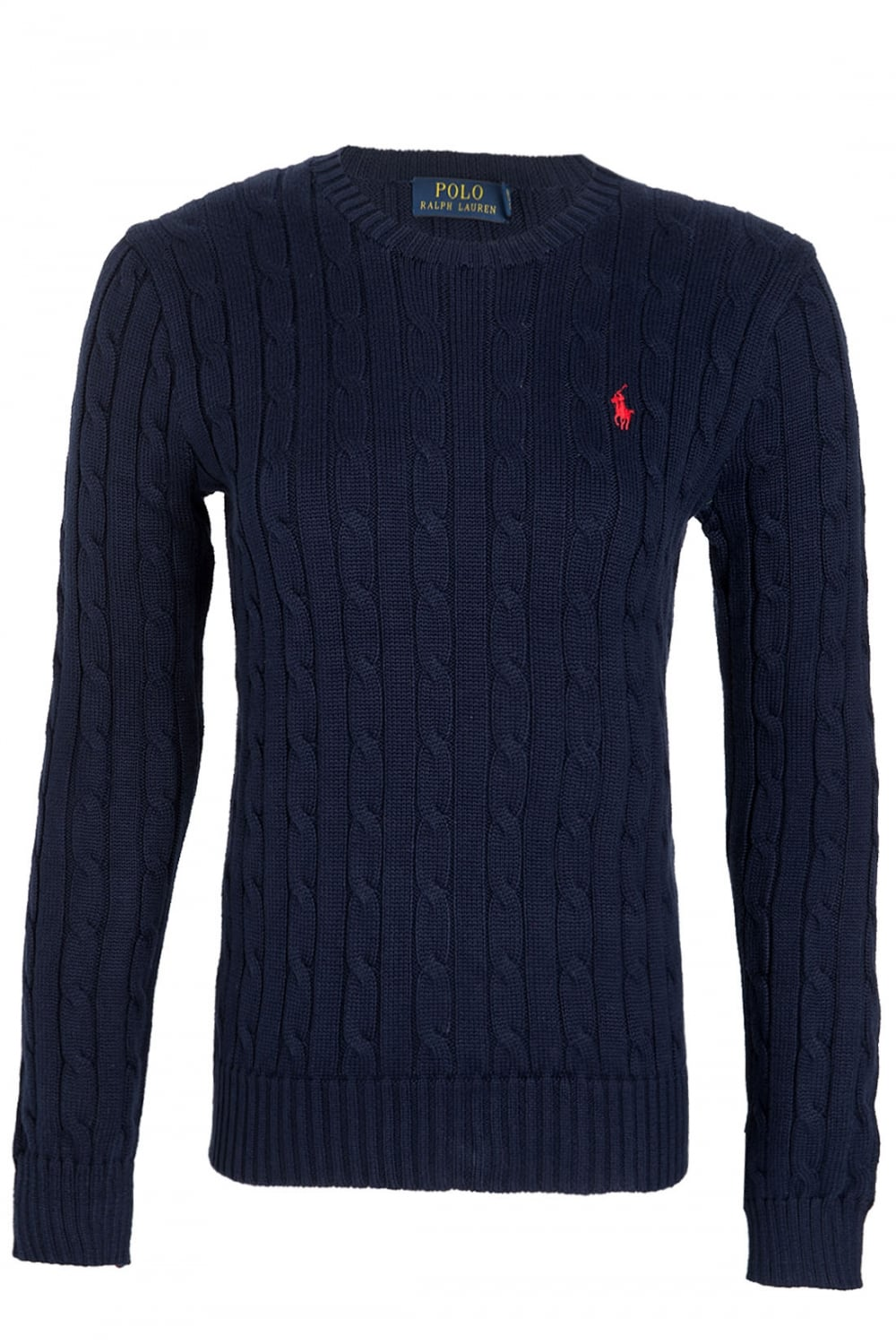 RALPH LAUREN Ralph Lauren Polo Julianna Womens Cable Knit Crew Neck Jumper  Navy - RALPH LAUREN from Circle Fashion UK