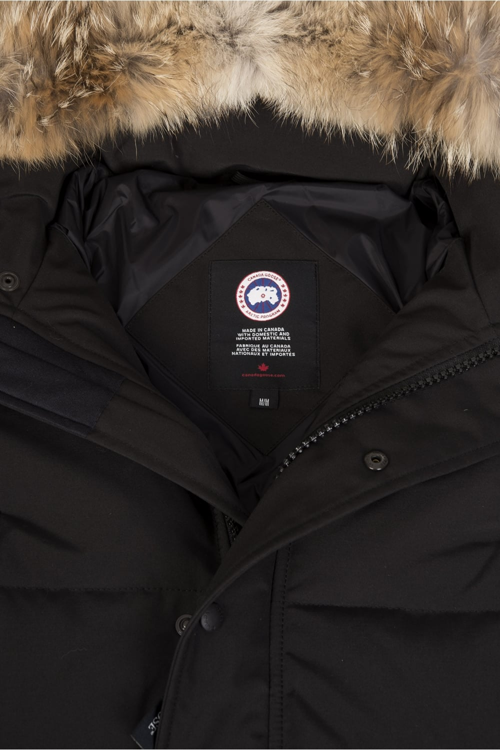 canada goose coat made from