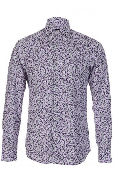 Z Zegna Floral Print Drop 8 Fit Shirt-
