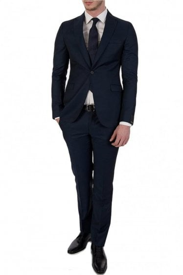 Z Zegna Two Piece Navy Wool Suit
